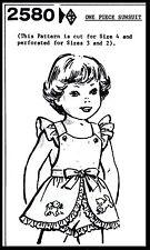 Sunsuit Playsuit Pattern BABY GIRL Toddler Child KIDS GRIT Mail Order 2580 2-3-4