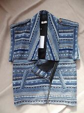 New Sass & bide Hara Juku Sleeveless Jacket Oversized Blue US 4, UK 8, AUD $750