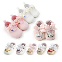 Baby Infant Toddler Girl Crib Shoes Casual Soft Prewalker Anti-slip Sneakers