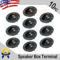 10PC SUBWOOFER SPEAKER ROUND BOX TERMINAL SCREW CUP PLATE CONNECTOR BINDING POST