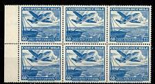 CHILI - CILE - PA - 1950/53 - Serie ordinaria. Aereo e teleferica 60 cent. blocc