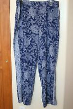 Investments XL Casual Pants Pant Elastic Waist Pull On with Pockets Navy Blue