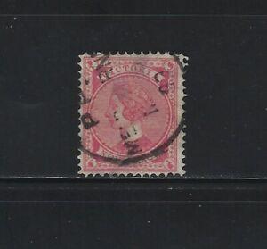 AUSTRALIAN STATES - VICTORIA - 9p ROSE QUEEN VICTORIA USED STAMP (1890)