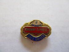vintage Roadway Express 3yr Trucker Trucking Safety Award Safe Driving Pin