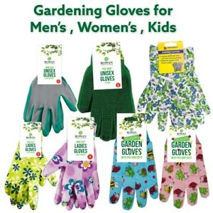 Gardening Gloves Non Slip Waterproof Hand Protection Safety Latex Coated Work UK