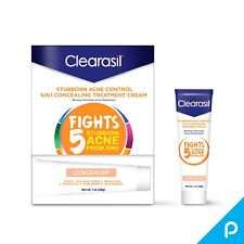 Clearasil Stubborn Acne Control 5in1 Concealing Treatment Cream, 1 oz(Pack of 2)