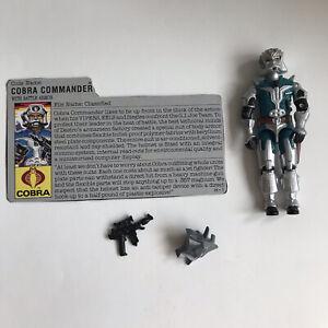 GI Joe 1987 Cobra Commander v3 Action Figure ARAH Near Complete With File Card