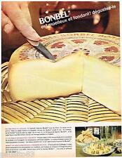 PUBLICITE ADVERTISING 105  1964   BONBEL  fromage  pour apéritif