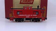 Right-of-Way Industries C&O 3-Rail Smoking Caboose Car No. 90973 ROWI C-6