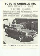 TOYOTA COROLLA 1100 PLUS PRICES SALES 'BROCHURE'/SHEET  LATE 60's