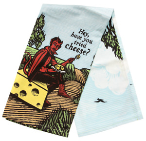 Hey, Have You Tried Cheese? Dish Towel  Tea Kitchen Novelty Gift