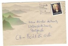 1985 Germany Europa stamp on cover -- Bach -- 100% to charity