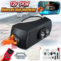 5KW 12V Vehicle Diesel Air Heater LCD REMOTE CONTROL Silencer For Truck Boat