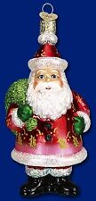 """Large 5"""" Gift Giver Santa Glass Ornament Old World Christmas 40142 NEW"""