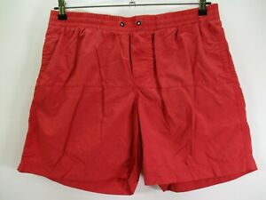Columbia Omni-Shield Men's Size Large Red Swim Shorts Mesh Lined Pull On Waist