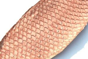 authentic Tilapia Fish Skin Hide Leather Craft Supply Glazed Pale Pink