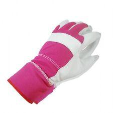 Handschuhe Arbeitshandschuhe Gartenhandschuhe Ziegen Leder / Feinstrick ROSA