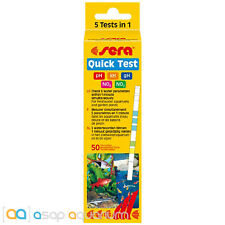 Sera 5 in 1 Test Strips Quick Test 50 Strips Freshwater Fast Free USA Shipping