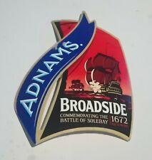 ADNAMS BROADSIDE BEER PUMP HANDLE CLIP BADGE BATTLE OF SOLEBAY 4.7 % ABV ALE OKC