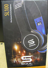 SOUL by Ludacris SL100 High-Def Sound Isolation Headphones in Carry Case No Box