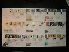 1996 ROYAL MAIL FDC FULL SERIES x 9 & PHILATELIC BUREAU SHS CV £55