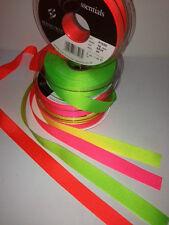 Berisfords Grosgrain Ribbon 5 Widths 3 Lengths. 35 Colours Flo Yellow 10mm X 3mtrs