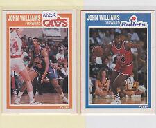 1989-90 Fleer Basketball ERR/COR #162 John Williams Cavs/Bullets NM