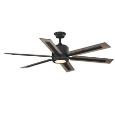 Home Decorators Palermo Grove 60in.LED Indoor Gilded Iron Dual Mount Ceiling Fan
