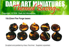 DAM Resin cast 32mm Fire Forge bases (10)