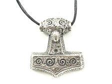 Eagle Head Thors Hammer Mjolnir Viking Pewter Pendant