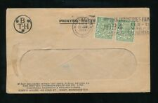 GB 1934 PRINTED MATTER 2 x 1/2d BRITISH THOMSON HOUSTON PERFINS + ENVELOPE