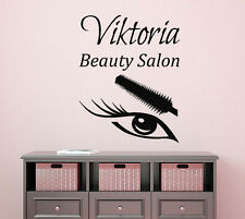 Custom Wall Decal Fashion Girl Make Up Vinyl Sticker Beauty Salon Decor Art KI44