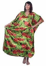 Up2date Fashion Women's Satin Caftan in Bright Floral Print, Style Caf-43
