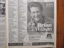 June-1999 Chicago Tribune TV Week(BRIAN  WILSON/GERARD  DEPARDIEU/THE BEACH BOYS