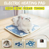 Electric Heating Mat Pad Heat Heater Heated Warming Pet Cat Dog Timed