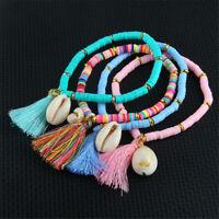 New Women Friendship Bracelets Shell Charm Bracelet Tassel Rope Jewelry Gift