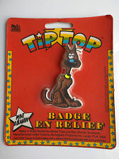 RARE Badge en relief Tip Top Lucky Luke Rantanplan