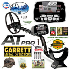 "Garrett AT Pro Metal Detector Underwater Waterproof with 5""x8"" Searchcoil, Hat"