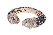 AMISHI LONDON Luxury Statement Lion Cuff Bangle