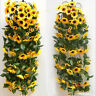 Künstlich Sonnenblumen Sonnenblumengirlande Kunstblumen Girlande Deko Haus