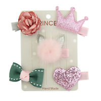 Baby Girl 5Pcs/set Hair Clip Bow Flower Mini Barrettes Party Star Kids Hairpins