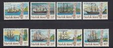 NORFOLK Island 1985 19th Century WHALING SHIPS - Both sets so 8 Stamps  MNH