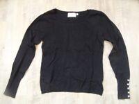 C&A leichter Pullover schwarz Gr. S TOP  e218