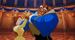 Disney Cel Beauty And The Beast Ballroom Dancing Rare Animation Art Edition Cell