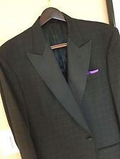 Cravats Bespoke Stylish Black Jacquard Formal Dinner Jacket 42/43R Lux 100% Wool