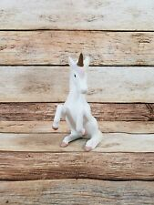 Vintage Lefton Unicorn Figurine Pink Pastel Mane Tail 1985 Sitting Down 04880