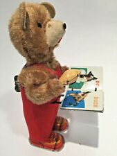 Vintage Windup Bear With a Book
