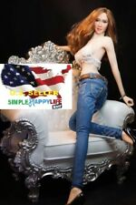 1/6 scale women Skinny Jeans Trousers Pants w/ belts for phicen hot toys ❶USA❶