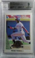 1998 Leaf Fractal Materials Baseball Card #157 Frank Thomas CC PX #490/3250 BGS9
