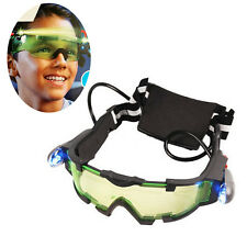 Children Night Vision Goggles Glass Protection Cool Green Lens Eye Shield POP